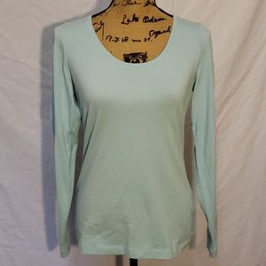 Land's End Scoop Neck Longsleeve T Shirt Small.
